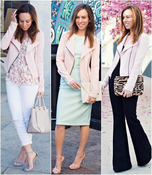 Sydne Style how to wear a pink jacket fashion trend spring 2015 .
