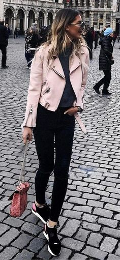 103 Best how to wear light pink leather jacket images in 2020 .