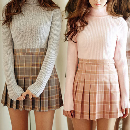 Double Color Plaid Skirt SD00628 | Preppy style, Fashion outfits .