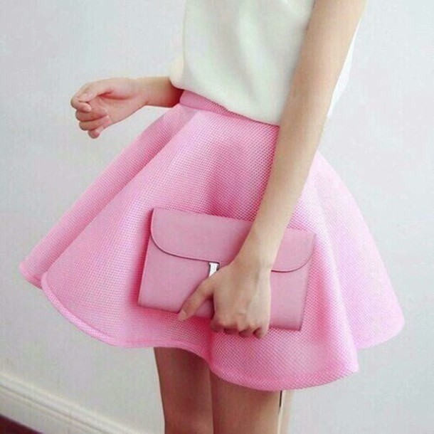 skirt, pink skirt, pink, skiet, cute skirt, cute skirt, baby pink .
