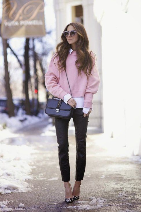 "Pink sweater - ""Outfit ideas, by Chicisimo"" Fashion iPhone app ."