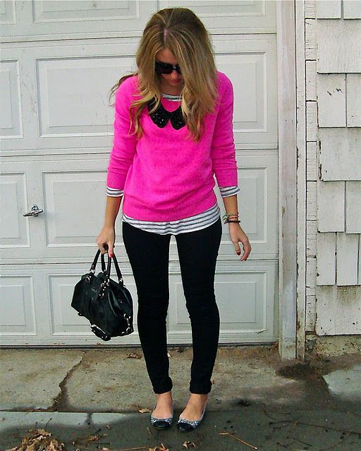Outfit with Pink Sweater - 18 Ways to Wear Pink Sweate