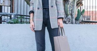 15 Ways To Wear A Grey Plaid Blazer Right Now - Styleohol
