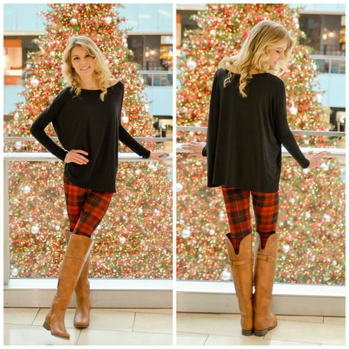 PLAID LEGGINGS - I want some | Christmas leggings outfit, Outfits .