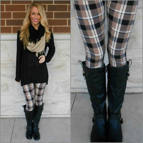 Perfect Plaid Leggings, $12.00 (With images) | Outfits with .