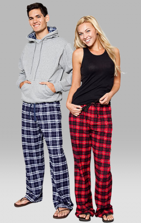 Boxercraft Red and Black Plaid Unisex Flannel Pajama Pant .