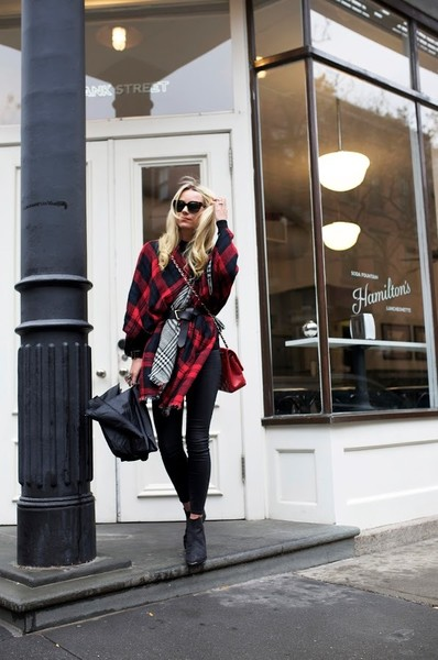 Lumberjack Plaid - Cape and Poncho Outfit Ideas - Living