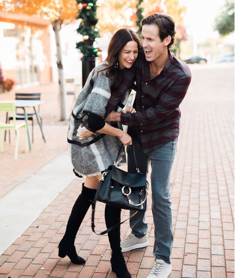 the miller affect winter outfit inspiration with plaid poncho .