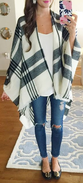 How to Stitch Fix Like a Pro | Poncho outfit, Plaid poncho outfit .