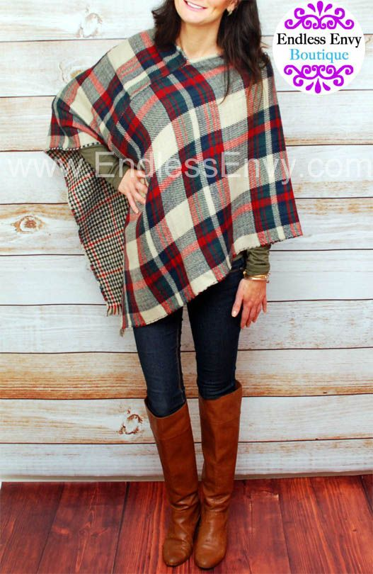 Plaid Infinity Scarf at Endless Envy Boutique #Plaid #Scarf .