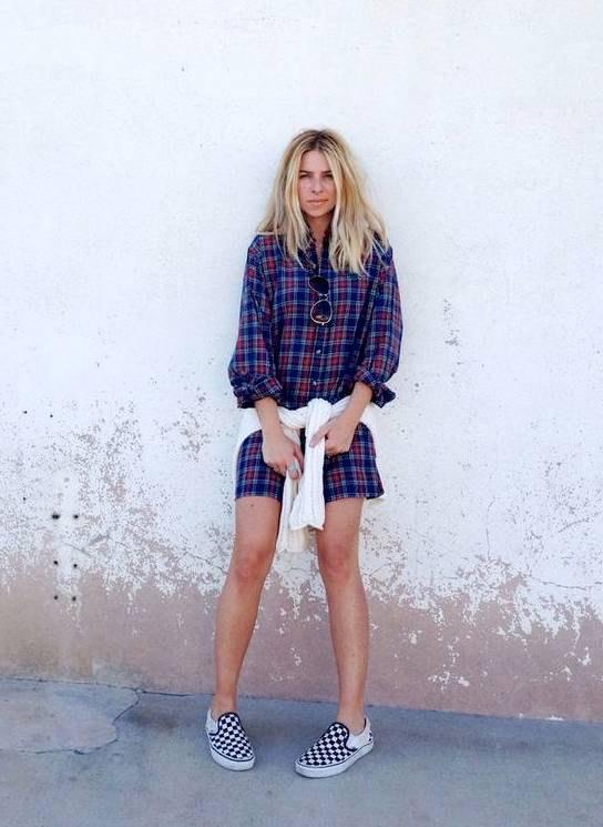 13 Amazing Plaid Shoes Outfit Ideas for Women - FMag.c