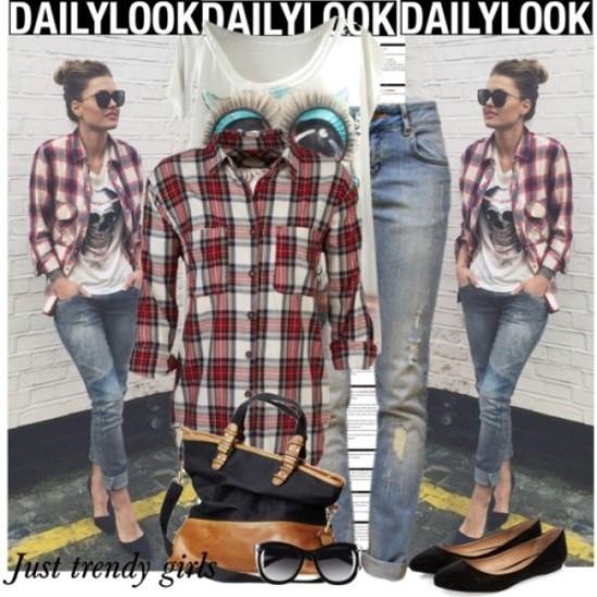 How to style a plaid shirt | | Just Trendy Gir
