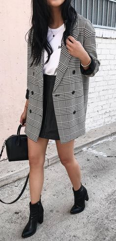 50 Best Plaid Blazer & Coat Outfit Ideas images | Plaid blazer .