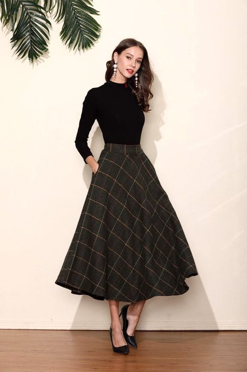 20+ Best Dress Skirt Outfits Ideas For Women in 2020 | Long skirt .