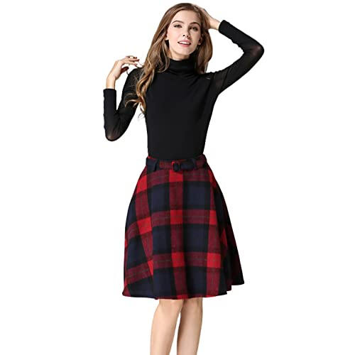 Women's Plaid Skirt: Amazon.c