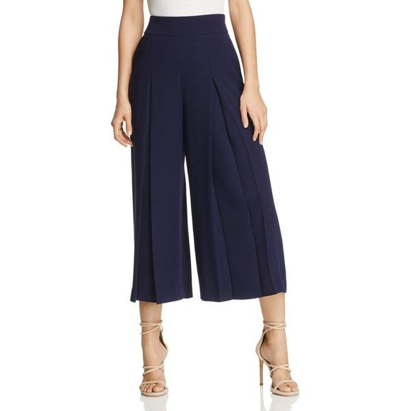 Ted Baker Pleated Culottes ($239) ❤ liked on Polyvore featuring .