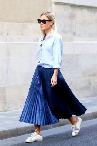 30 Trendy Ways to Style Pleated Skirts This Seas