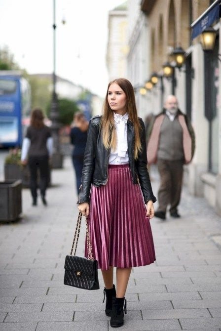 44 Gorgeous Feminine Pleated Midi Skirt Outfits Ideas For Winter .