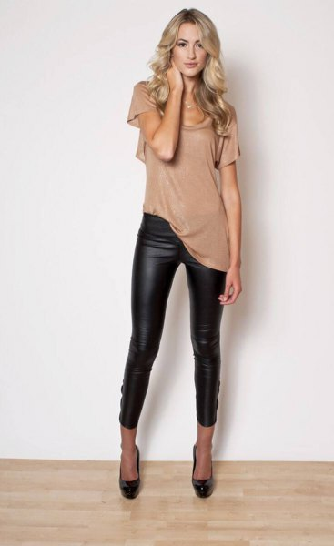 How to Wear Pleather Leggings: 15 Super Chic Outfit Ideas for .