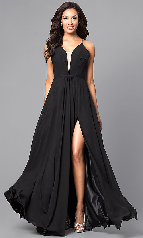 Corset Back Plunging Neckline Faviana Formal Gow
