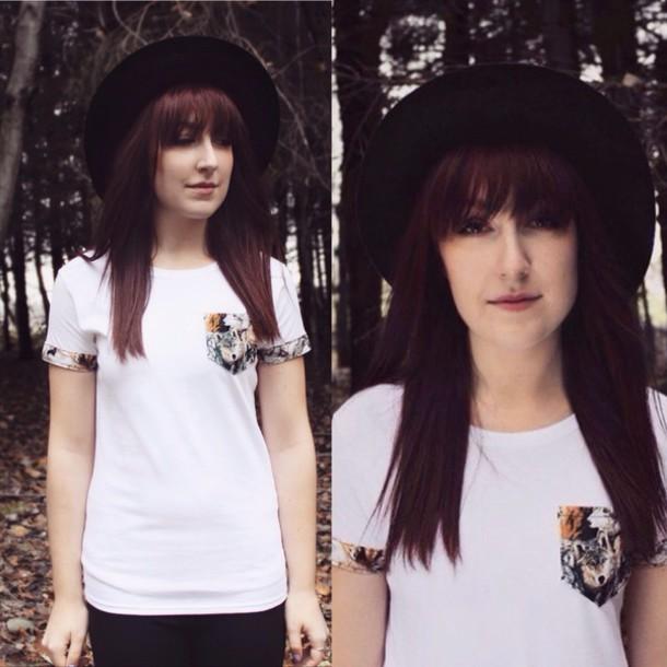 shirt, pocket t-shirt, top, animal print, animal face print .