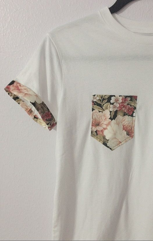 Staple Pocket Tee / Creme & Floral - Tees - Women (With images .
