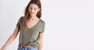 How to Style Pocket T Shirt: Outfit Ideas for Women - FMag.c