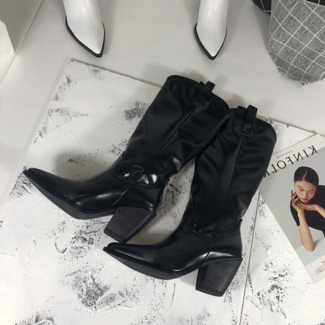 fashion embossed microfiber leather women ankle boots pointed toe .