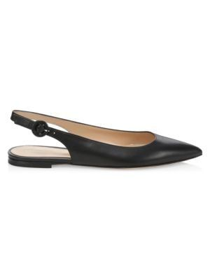 GIANVITO ROSSI Anna Leather Slingback Flats. #gianvitorossi #shoes .