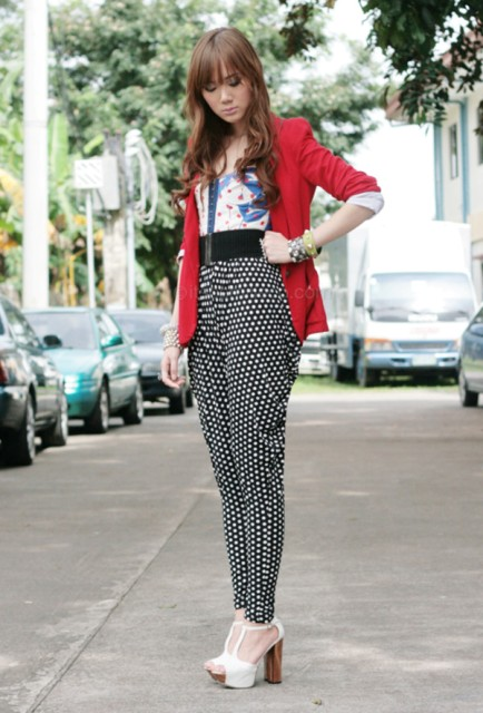 22 Awesome Polka Dot Pants To Try This Summer - Styleohol