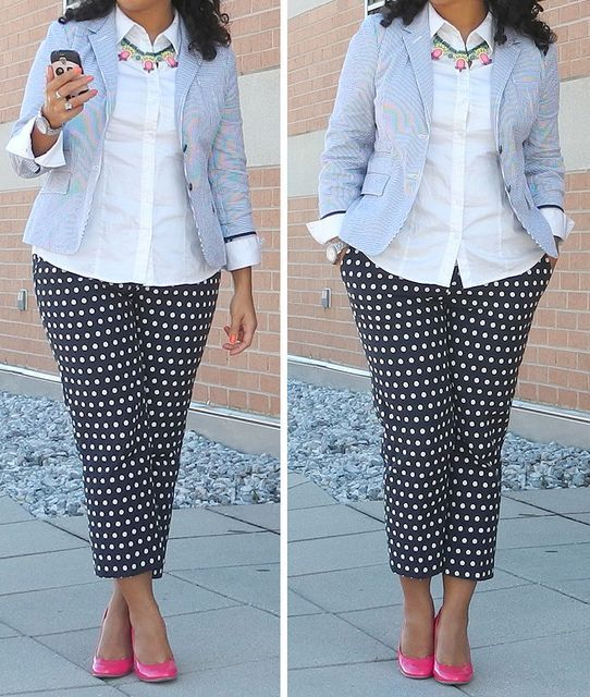 5 ways to wear curvy polka dot pants without looking frumpy - Find .