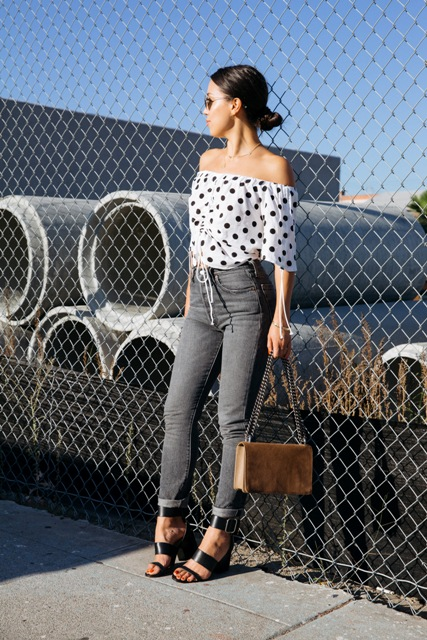 20 Polka Dot Crop Top Outfit Ideas - Styleohol