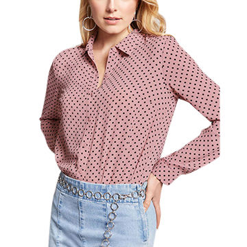 China Latest polka dot shirt designs for women on Global Sourc