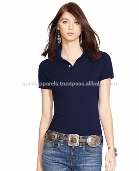 Wholesale Tshirt Polo Shirt Printing Blank Polo Tshirt For Women .