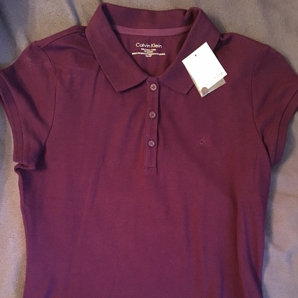 Calvin Klein Tops | Purple Polo Shirt For Women | Poshma