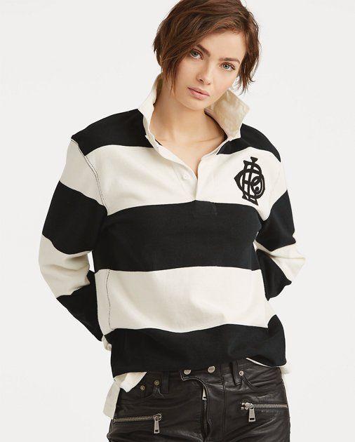 Monogram Cotton Rugby Shirt | Polo ralph lauren women, Rugby shirt .