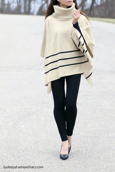 Sweater Chic - Cape and Poncho Outfit Ideas - Living