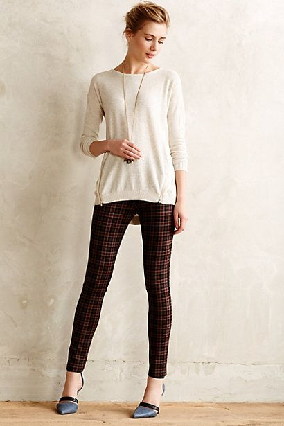 Plaid Ponte Leggings | Anthropologie clothing, Clothes, Plaid outfi
