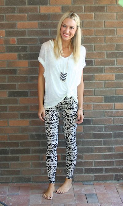 tribal print leggings... simple and cute--- THESE! I almost bought .