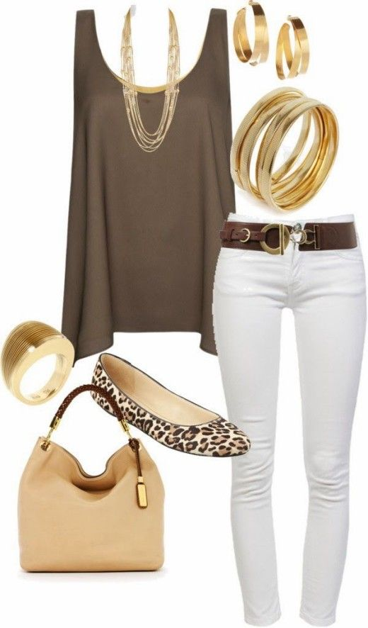 How to Wear White Jeans for Spring   Spring fashion outfits .