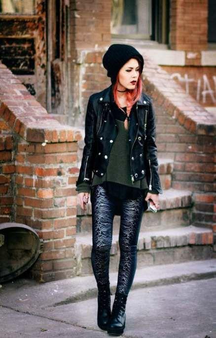 Best Hair Men Punk Leather Jackets Ideas | Punk looks, Punk .