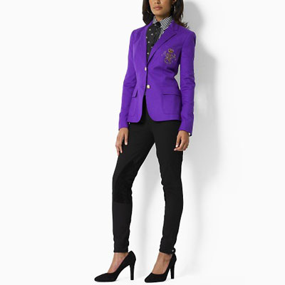 Ralph lauren women's 2009 crested blazer in purple 01 for cheap .
