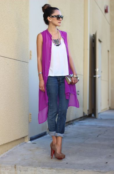 How to Wear Purple Cardigan: 15 Lovely Outfit Ideas for Ladies .