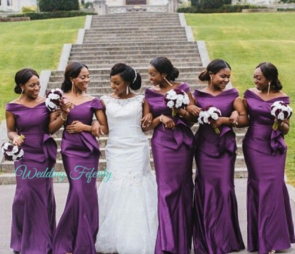 Purple Bridesmaids Dresses for Nigerian Weddings! | Bridesmaid .