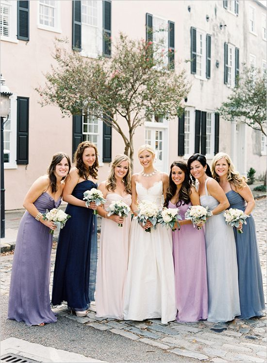 Mismatched Purple and Lavender Bridesmaid Dress Ideas | Lavender .