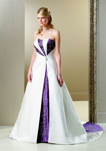 wedding dress with purple back... but Orange instead of purple .