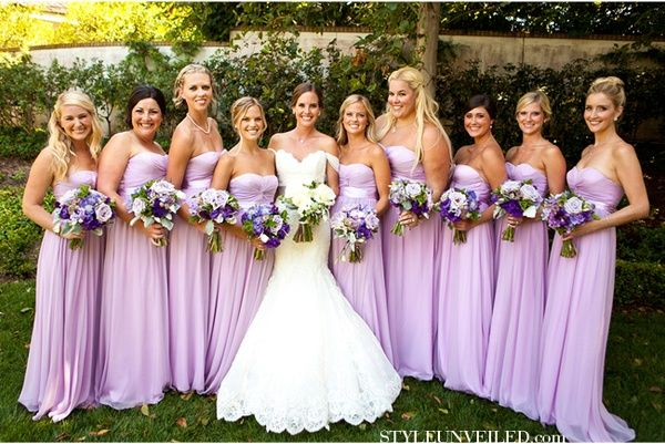 light purple and green wedding. (Only if the Bridesmaids were in .