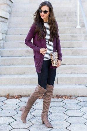 Call Her A Scholar Purple Cardigan at reddressboutique.com | How .
