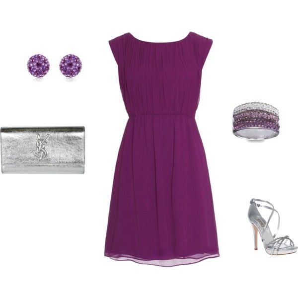 Purple Cocktail Dress Outfit Purple Dress #2dayslook #PurpleDress .