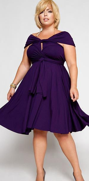 Purple plus size dress. Stylish party dress. | Purple plus size .
